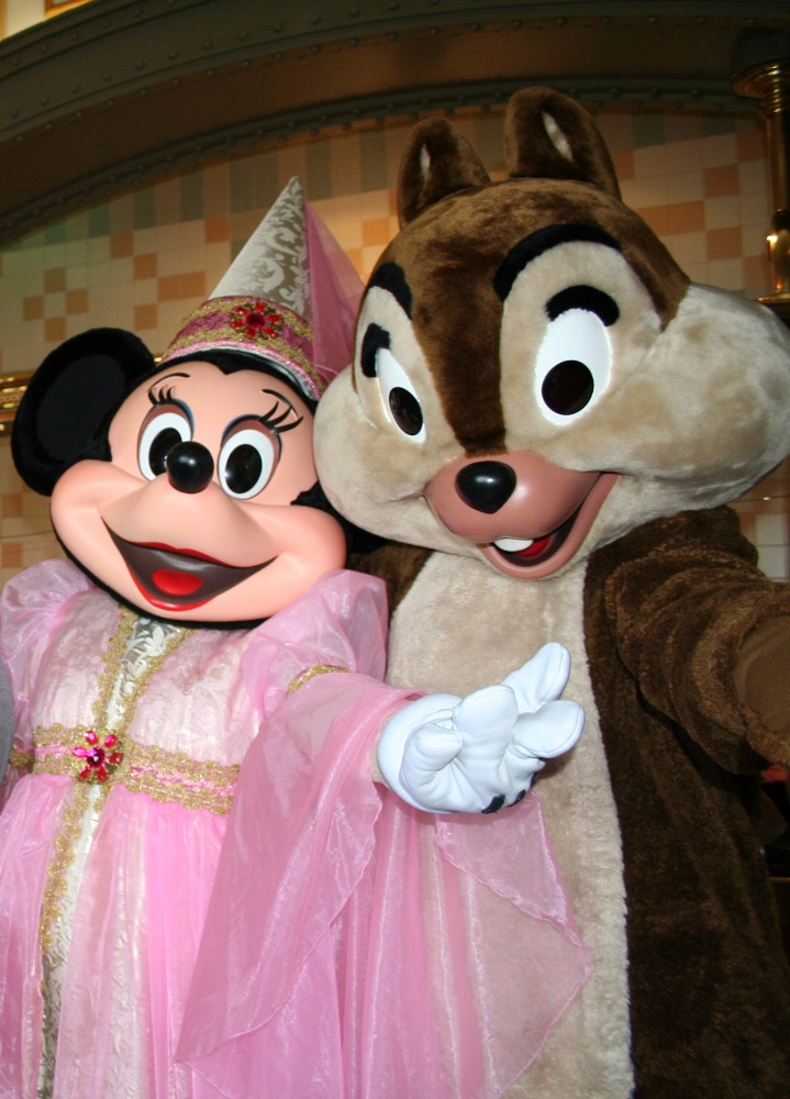 Minnie Mouse and Chip