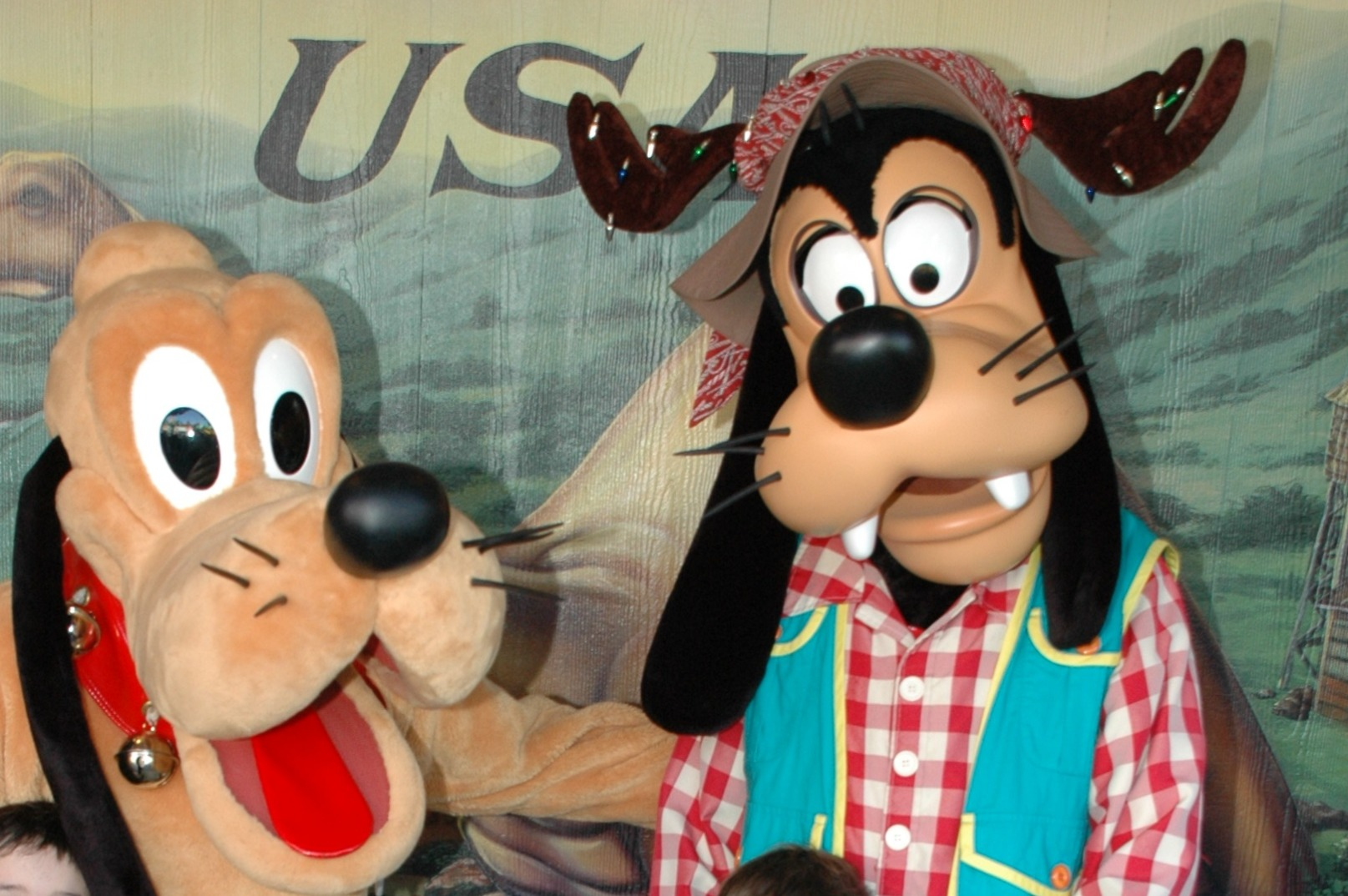 Old Goofy and Pluto