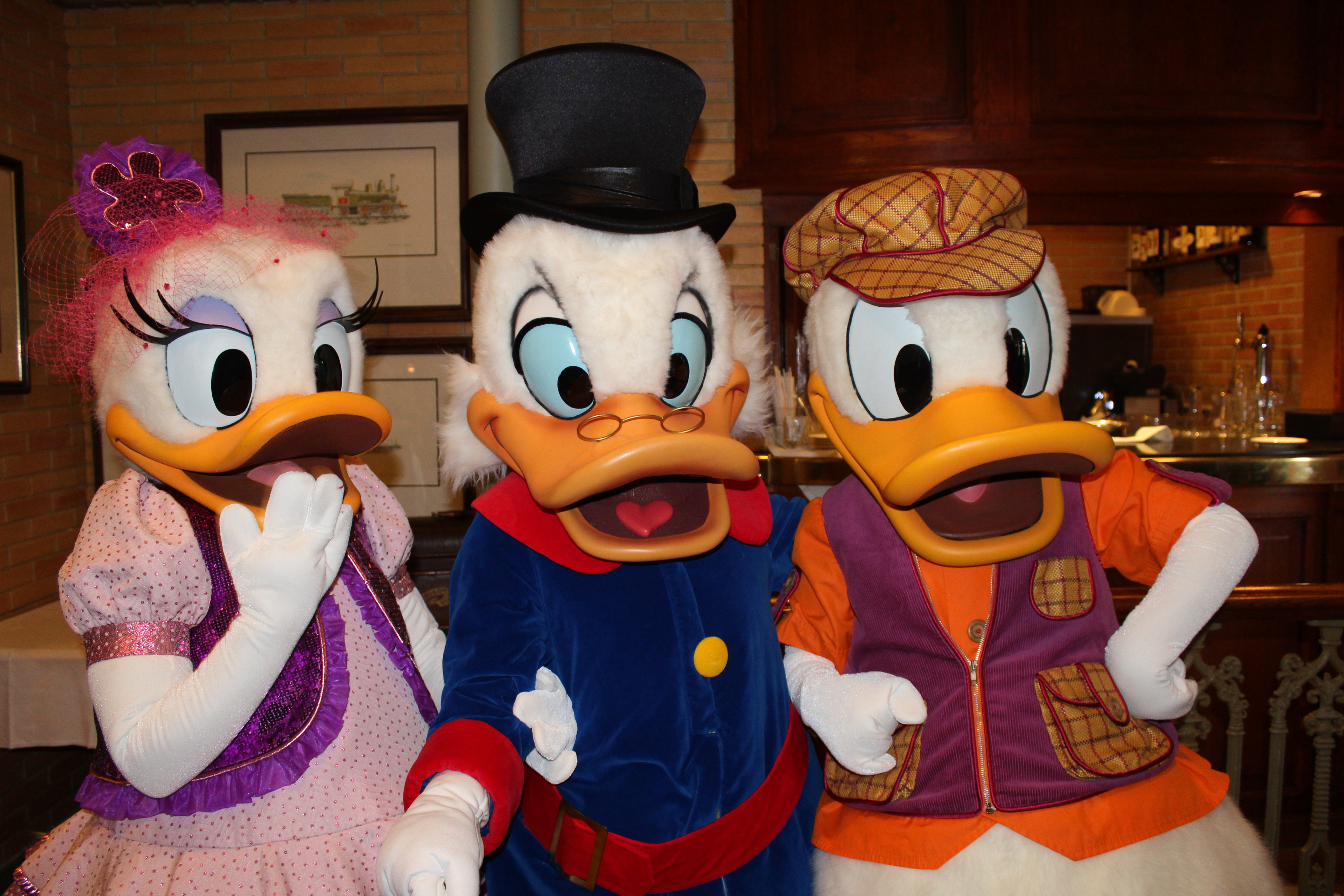 Daisy, Scrooge, and Donald