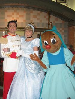 Cinderella, Prince Charming, and Suz