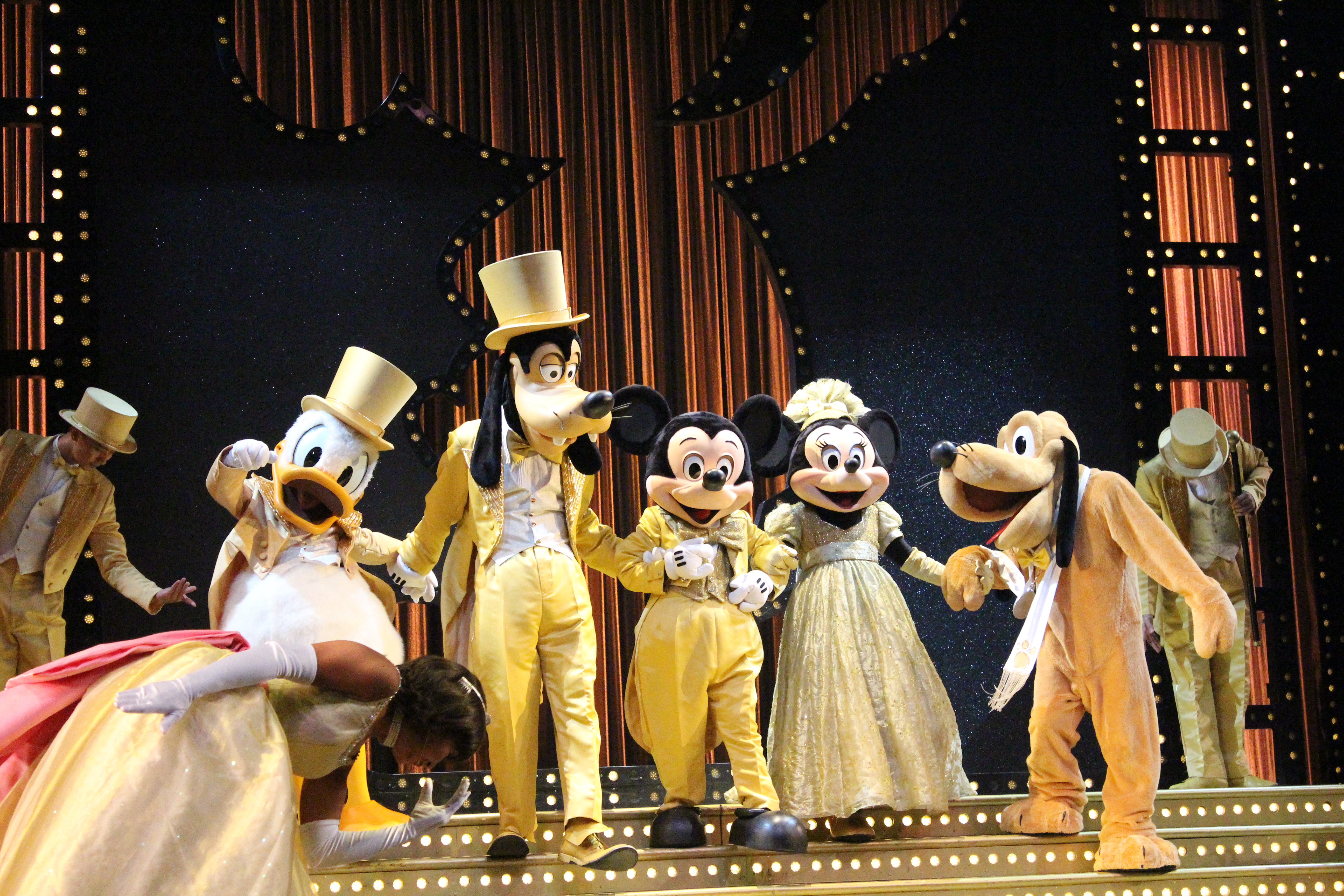 Mickey, Minnie, Pluto, Donald, and Goofy
