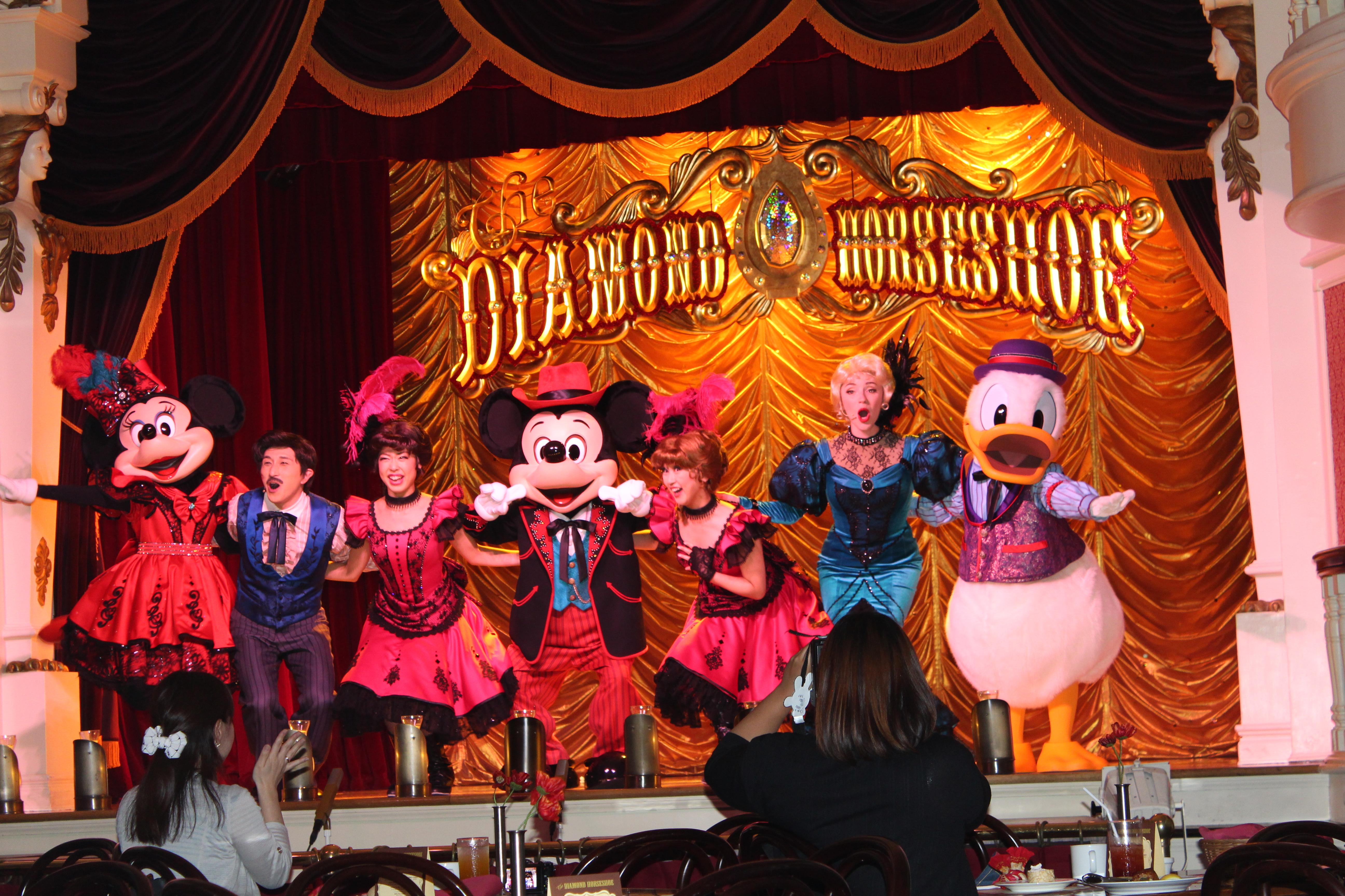 Mickey, Minnie, and Donald