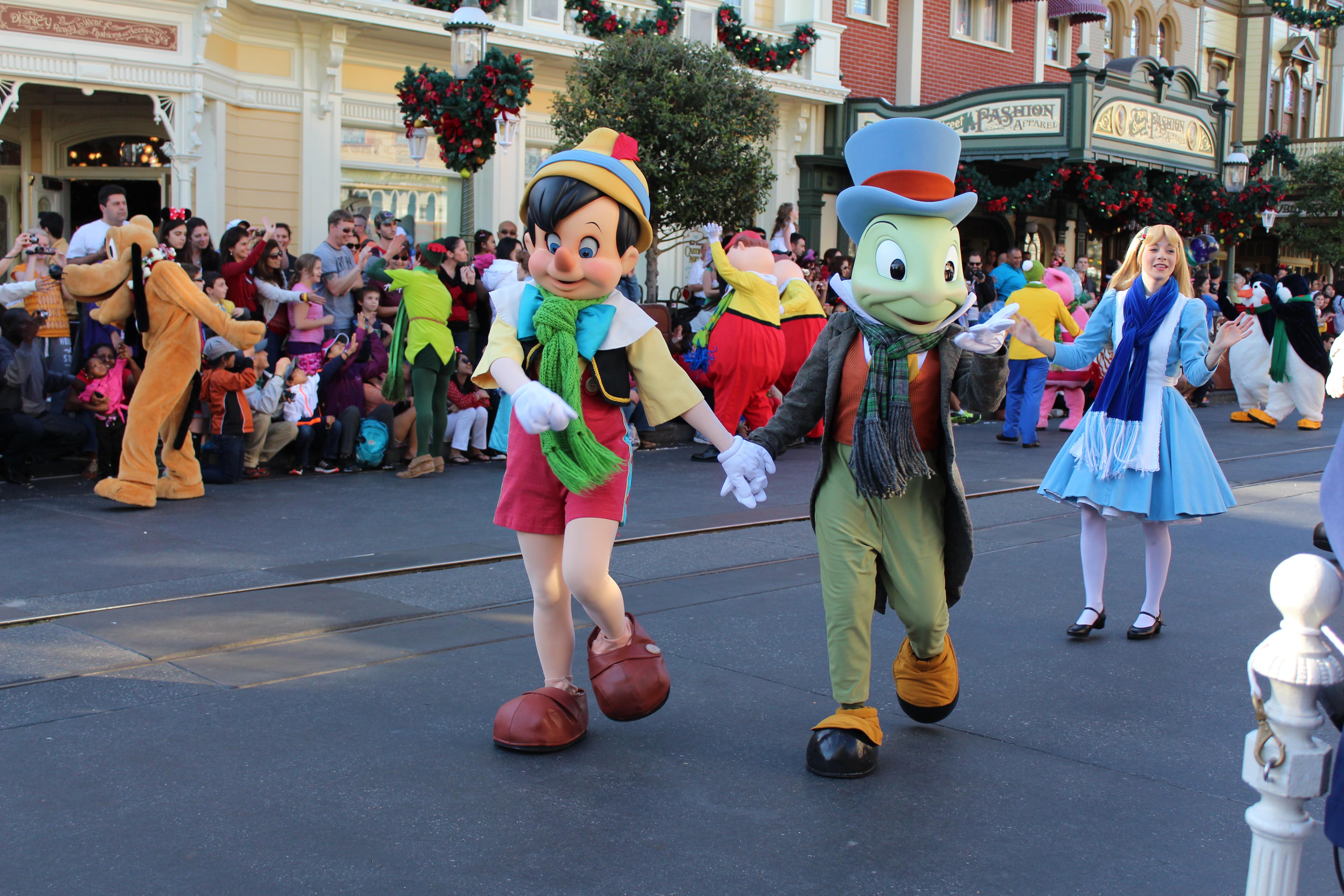 Jiminy Cricket and Old Pinocchio