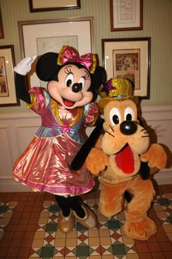 Minnie and Pluto