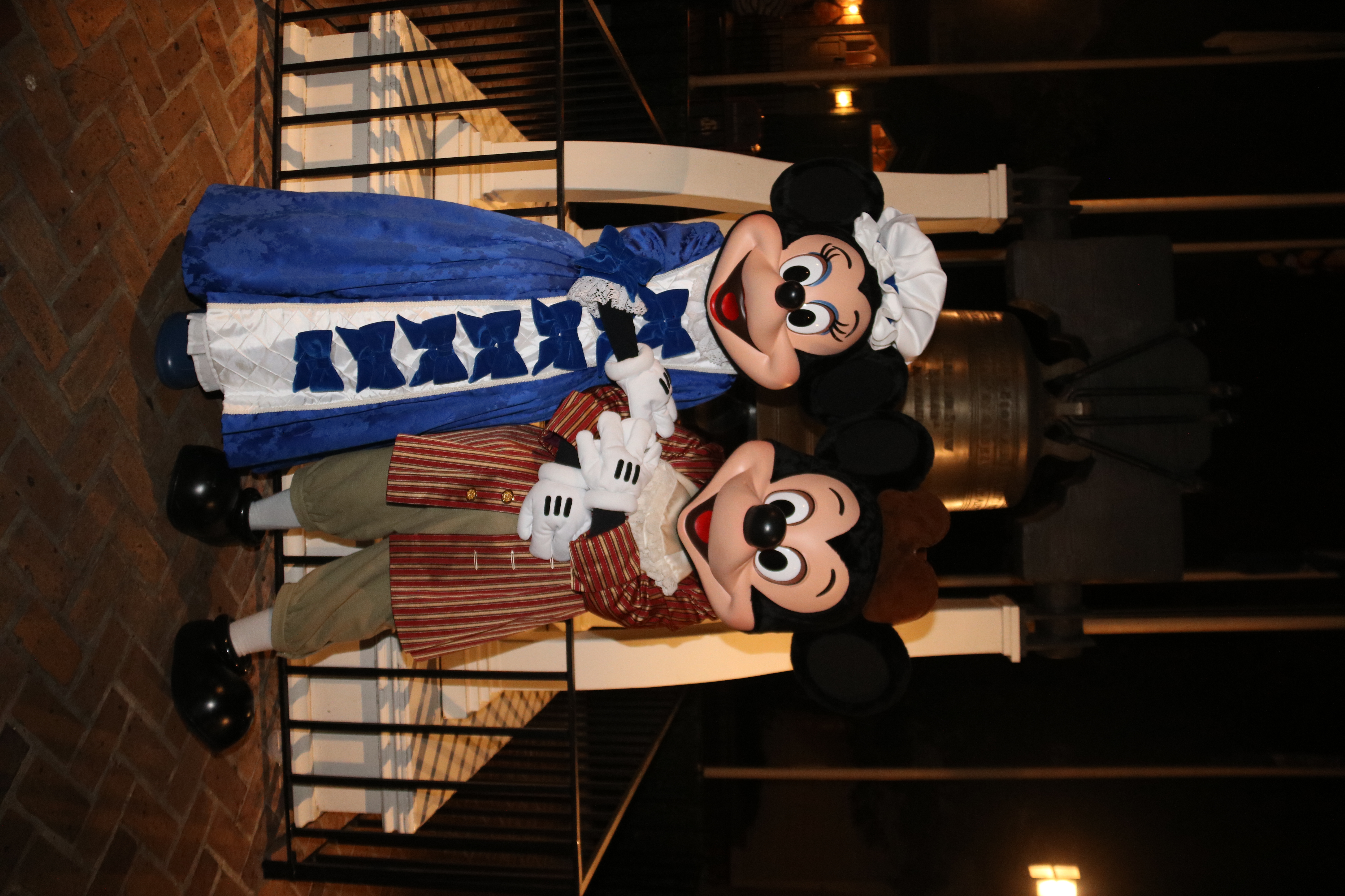 Colonial Mickey and Minnie