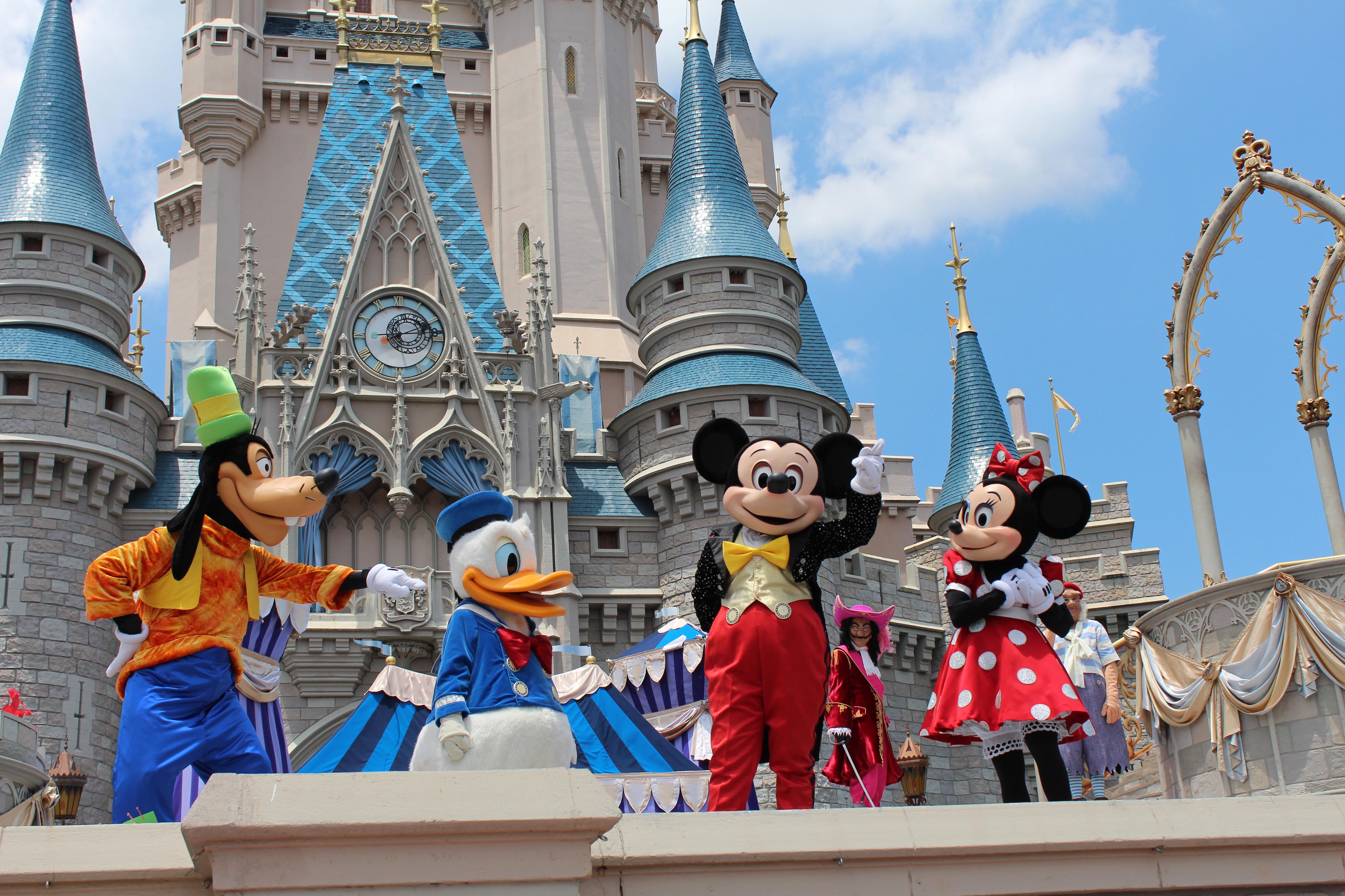 Mickey, Minnie, Donald, and Goofy