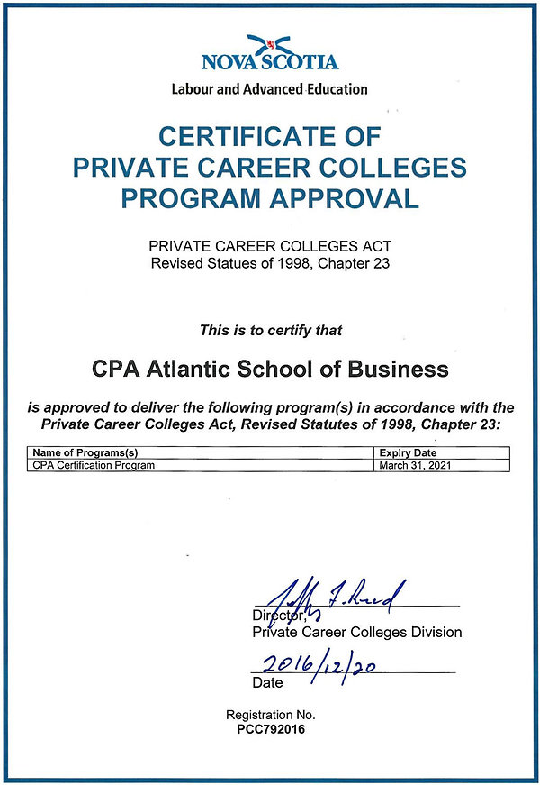 PCC certificate for school - version Dec