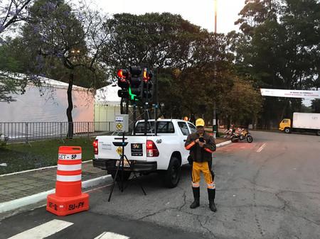Operação CET/SP utilizando Semáforo movel Portátil GP Formula 1 2018/ interlagos