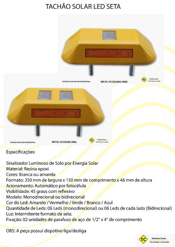 tachão solar led