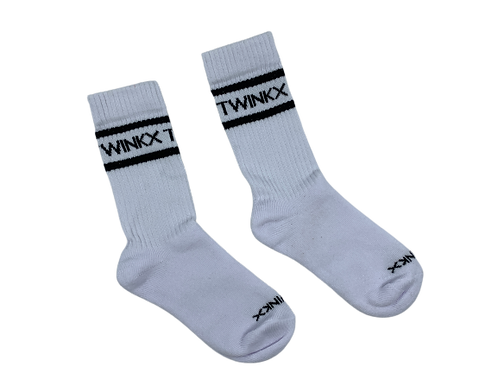 TWINKX Crew Sox white/black