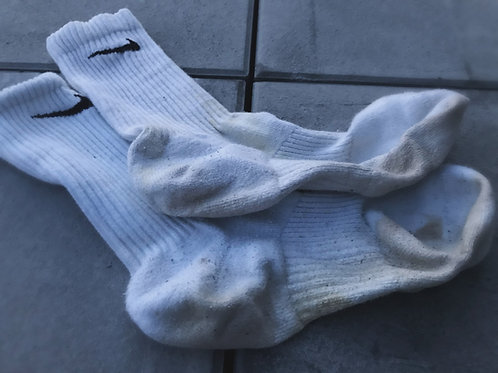 Worn Nike sox white