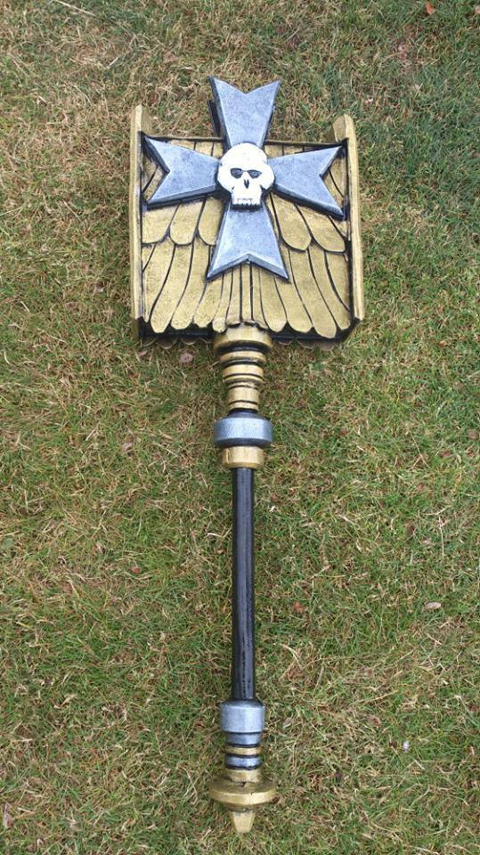 LARP hammer made in the style of Warhammer.