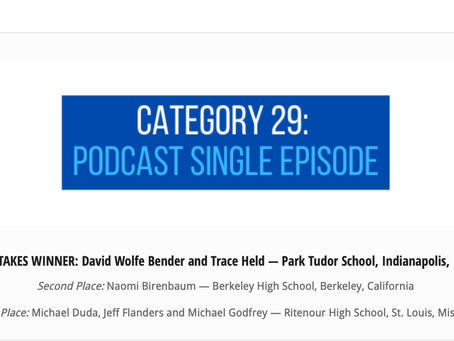 Students United Podcast Honored by Quill and Scroll in Multimedia Contest