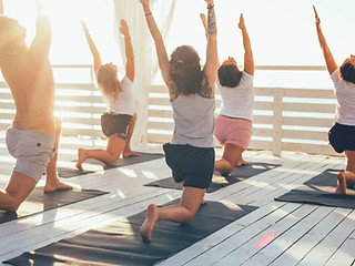 Yoga on the deck