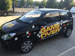 GAME OVER SIGNAGE