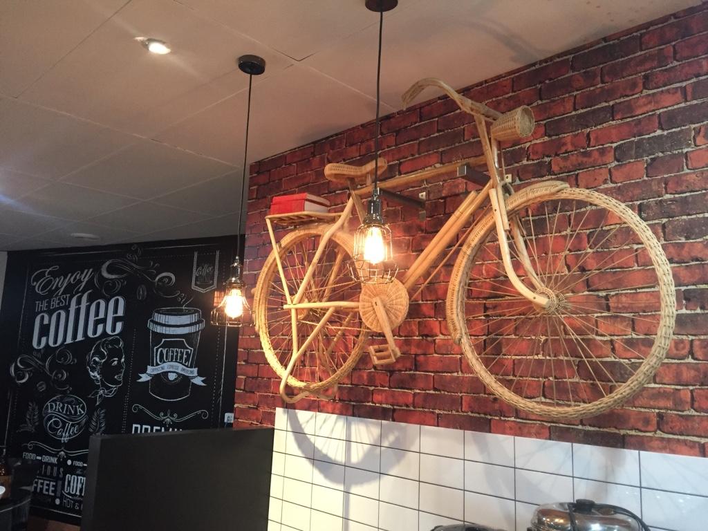 CAFE BRICK LOOK WALL WRAP