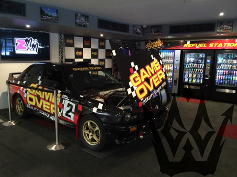 Game Over Display Race car