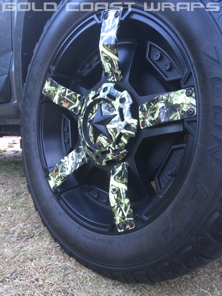 CAMOUFLAGE WHEEL WRAP