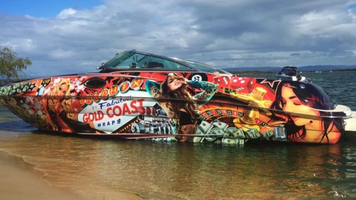CUSTOM ARTWORK, FULL BOAT WRAP