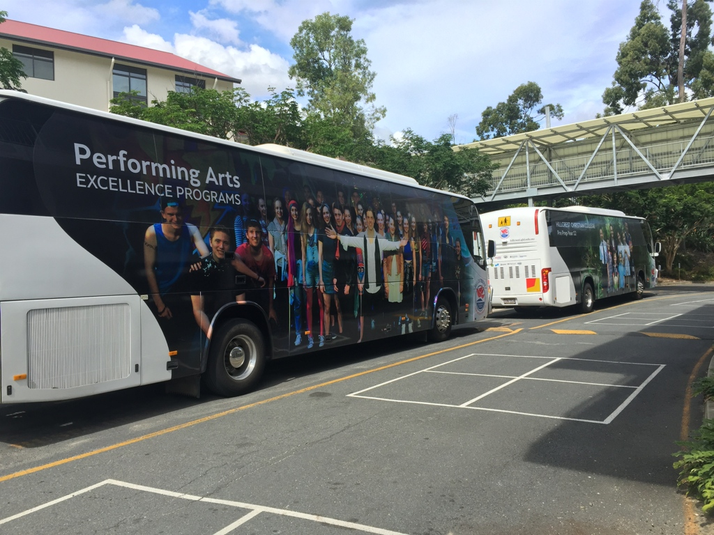 HILLCREST COLLEGE BUS WRAP