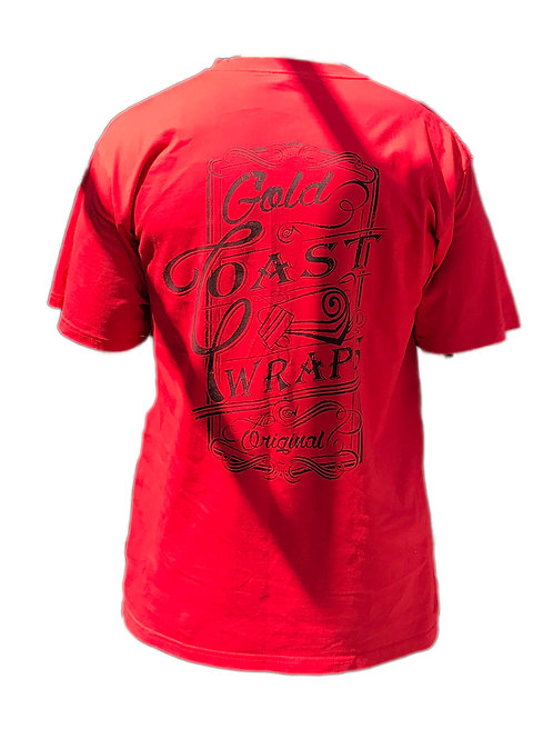 RED T-SHIRT - WRAPS BRANDED