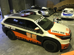 POLICE CARS FOR MOVIE SET