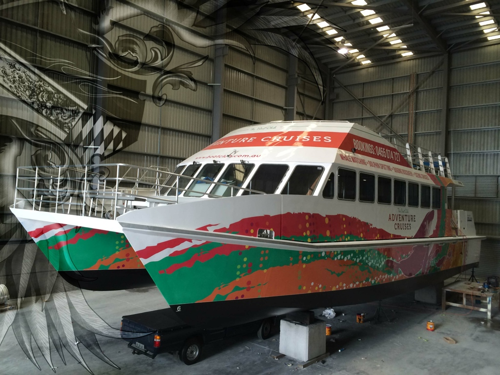 FERRY COMMERCIAL BOAT WRAP