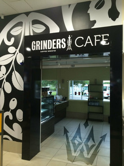 GRINDERS CAFE SIGNAGE
