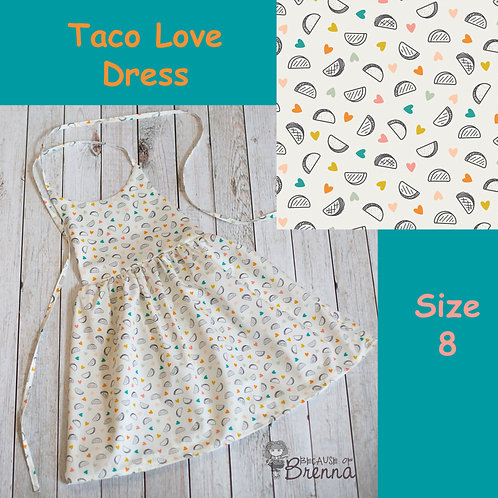 Taco Love Dress Size 8
