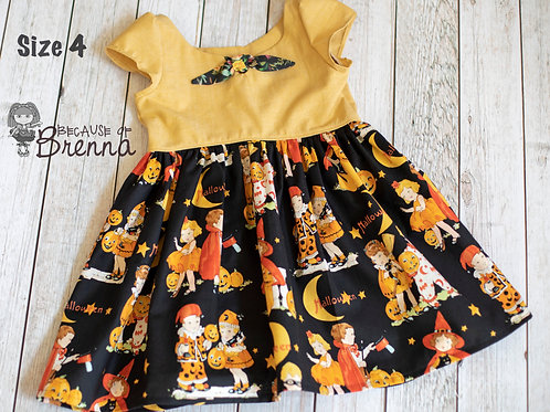 Vintage Trick or Treat Dress Size 4