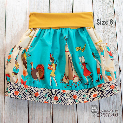 Thanksgiving Parade Skirt Size 6