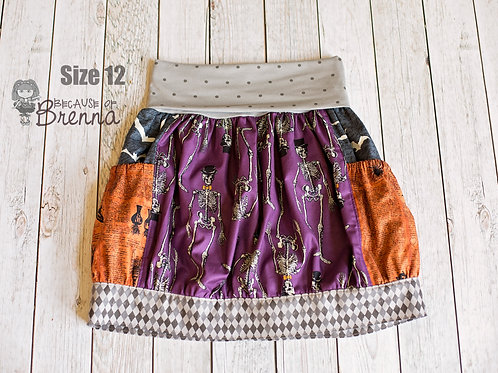 Skeletons on Parade Skirt