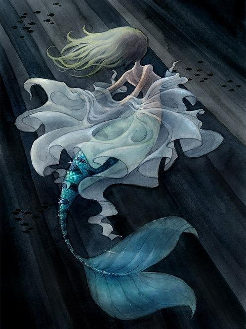 Mermaid Transformation Print - 8 x 10