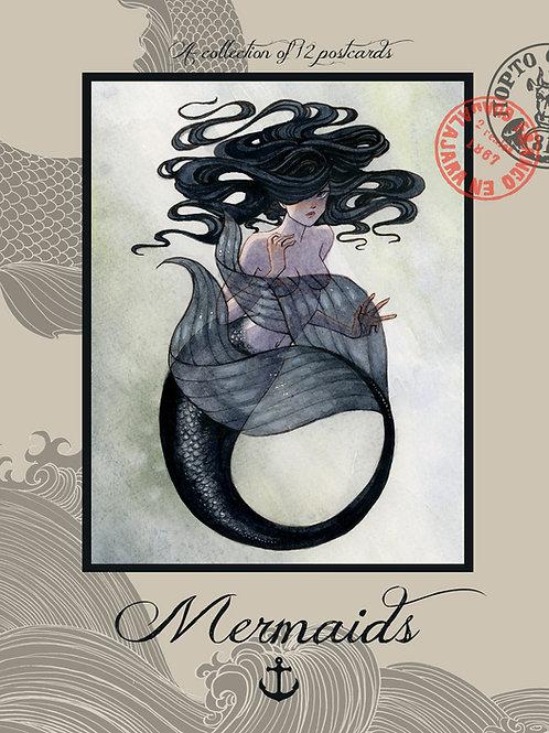 Mermaids, Set of 12 Postcards