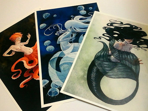 SPECIAL - Any 3 8x10 Mermaid Prints of your choice