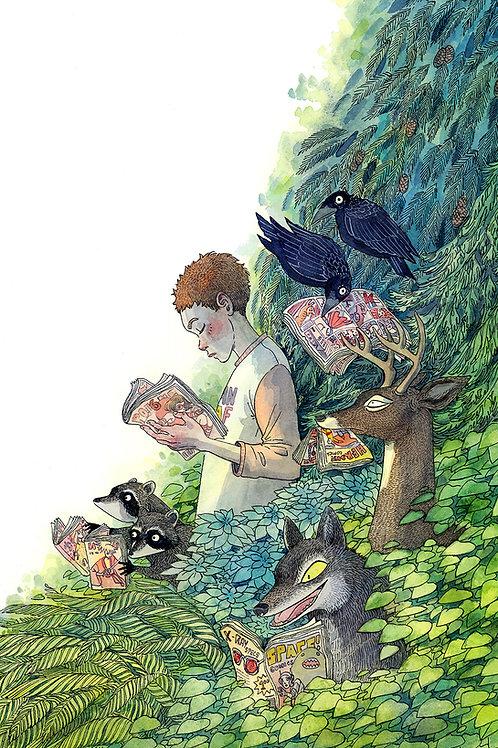 Comics Forest Print - 11 x 14