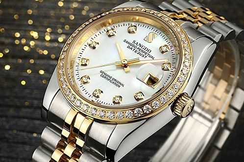 Men's Luxury Diamond Automatic Watch