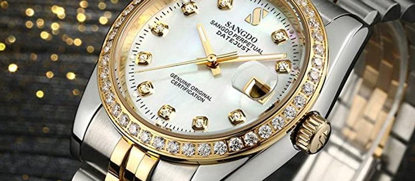 Men's Luxury Diamond Automatic Watch