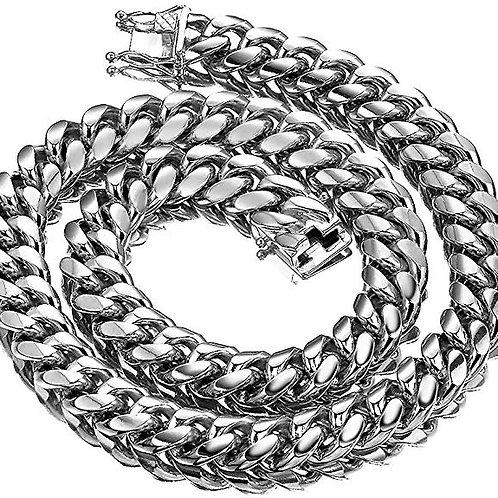 Men's Silver Cuban Link Chain