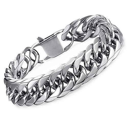 Men's Silver Cuban Link Bracelet