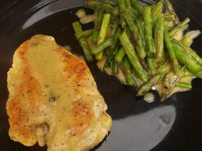 Cream Chicken and Asparagus (GF,DF)