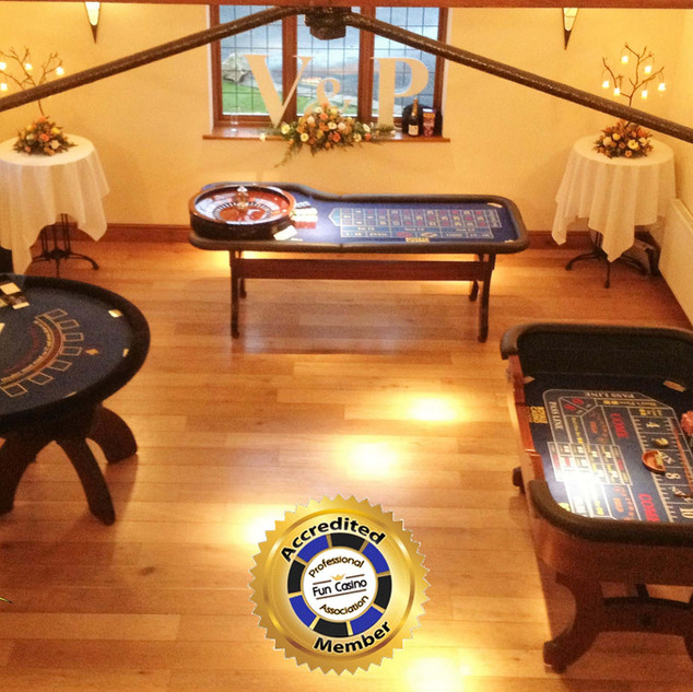 Roulette, Blackjack and Dice tables