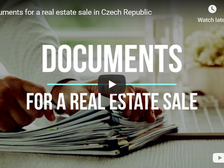 Documents for a real estate sale in Czech Republic