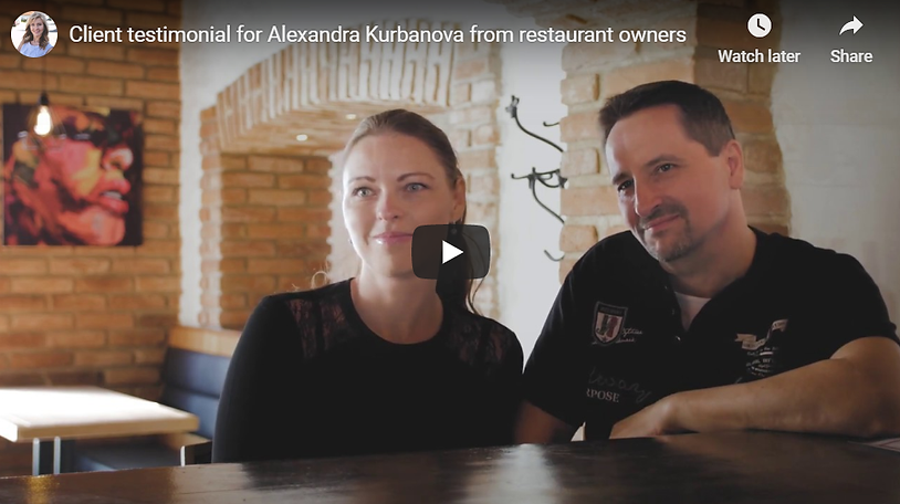 testimonials for the work of Alexandra K