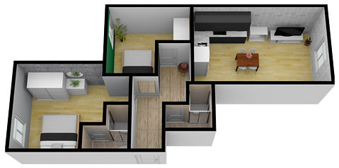 Prague apartments' layout