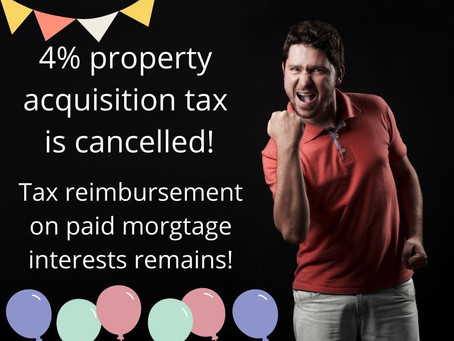 4% property acquisition tax is cancelled