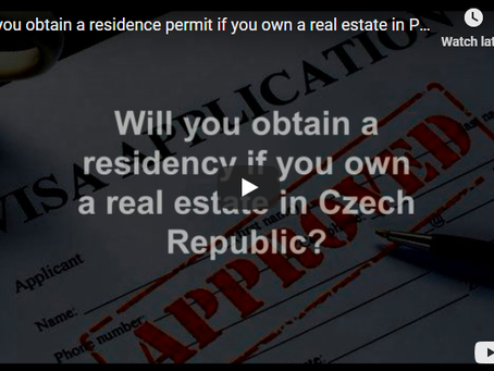 Will you obtain a residence permit if you own a real estate in Prague?