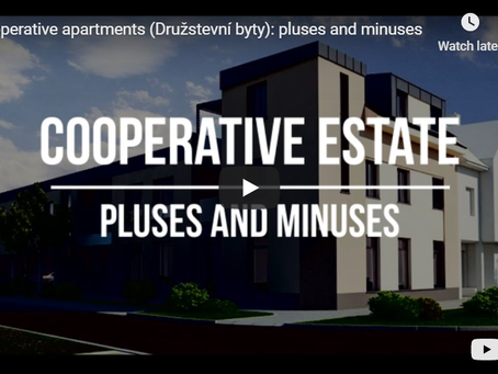 Cooperative apartments (Družstevní byty): pluses and minuses