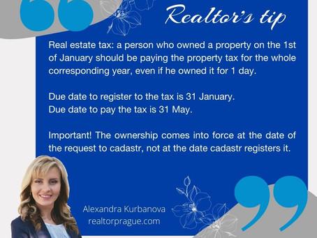 Realtor's tip - property tax.