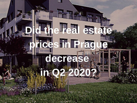 Did the real estate prices in Prague decrease in Q2 2020?